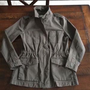 Hinge Olive Military Utility Jacket. Size Small